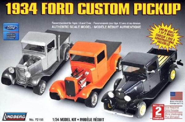 Lindberg #72155 1934 Ford Custom Pickup 1:24 Scale Plastic Model Kit