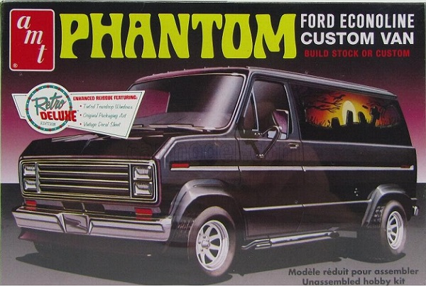 AMT #767 1976 Ford Econoline Phantom Custom Van 1/25 Plastic Model Kit
