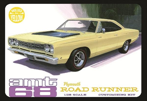 AMT #849 1968 Plymouth Road Runner Yellow Customizing 1/25 Plastic Model Kit