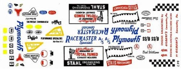 Cady Decal #447 '67 Plymouth GTX Stiles & Stahl Drag Racing