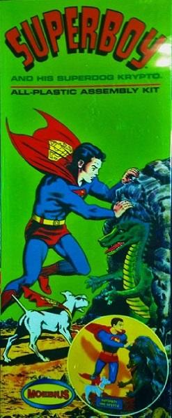 Moebius #478 Superboy and his Super Dog Krypto 1:10 Scale Plastic Model Kit