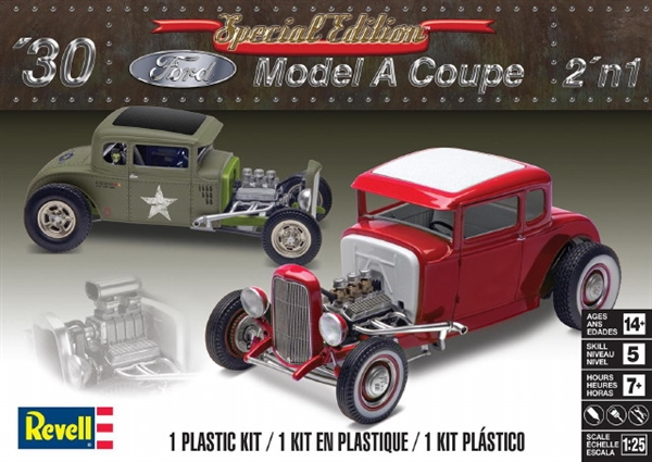 revell 4326 1930 ford model a coupe 2 n 1 1 25 scale plastic model kit modelempire. Black Bedroom Furniture Sets. Home Design Ideas