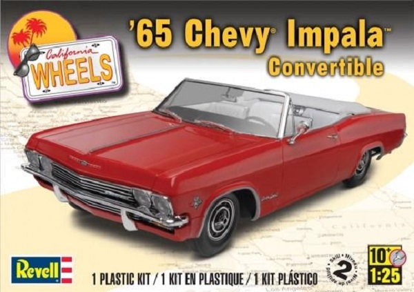 Revell 4933 1965 Chevy Impala Convertible 1 25 Scale Plastic Model