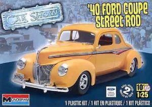 Revell #4993 1940 Ford Coupe Street Rod 1:25 Scale Plastic Model Kit